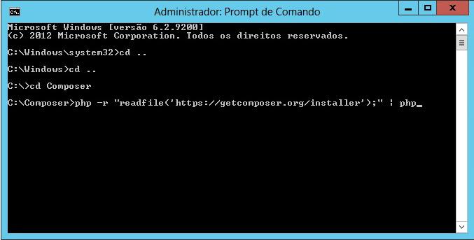Instalando Composer no Windows Manualmente
